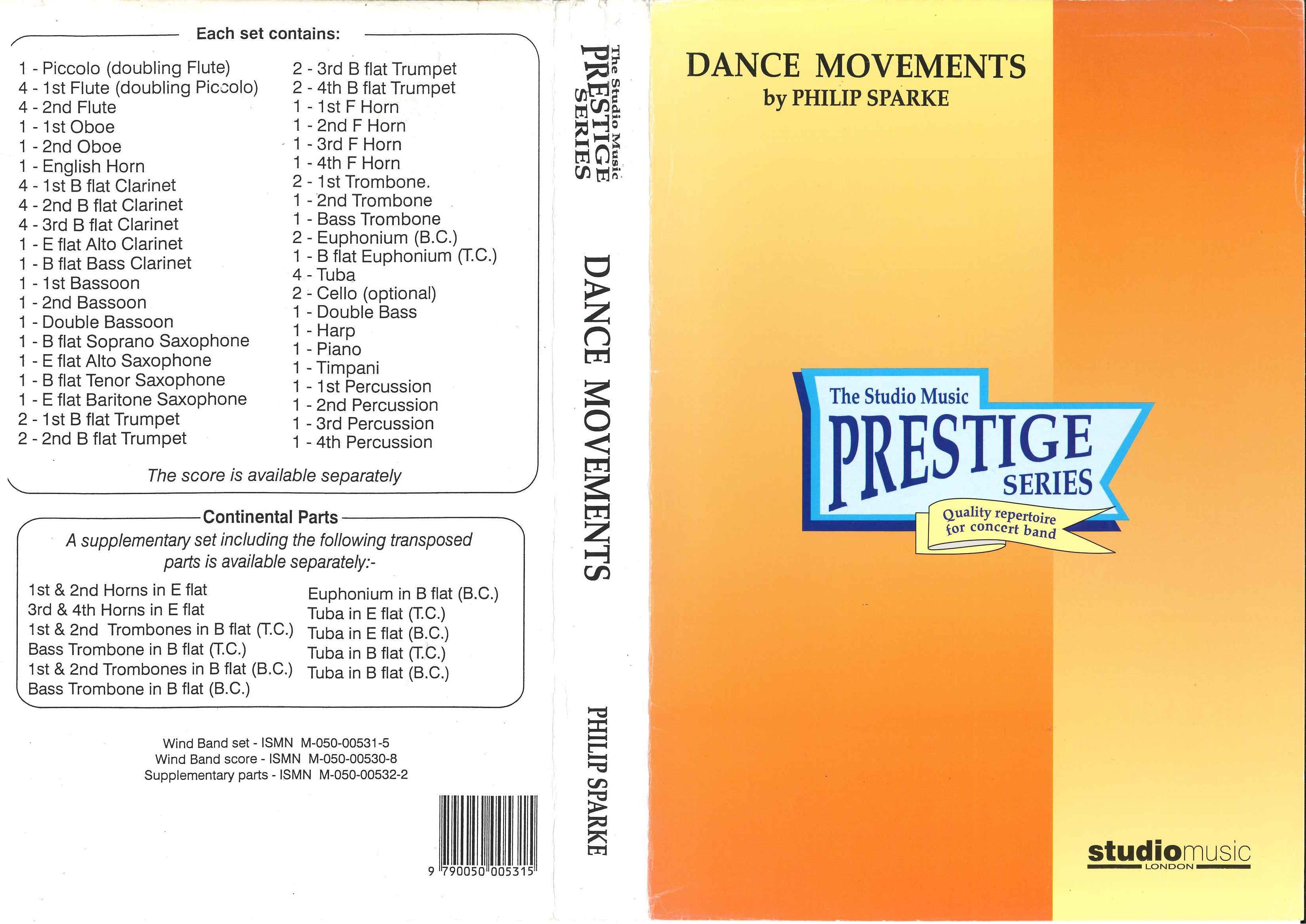吹奏楽譜「ダンスムーヴメント/スパーク」
