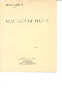 フルート用楽譜「フルート四重奏曲 作品106/フローラン・シュミット」