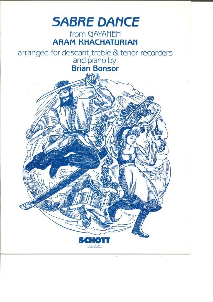 リコーダーアンサンブル譜「ハチャトゥリアン作曲/剣の舞」